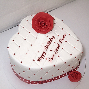 HBD003 - Birth Day Heart Cake