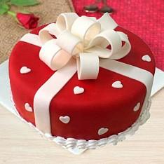 HBD009 - Round Gift Box Cake