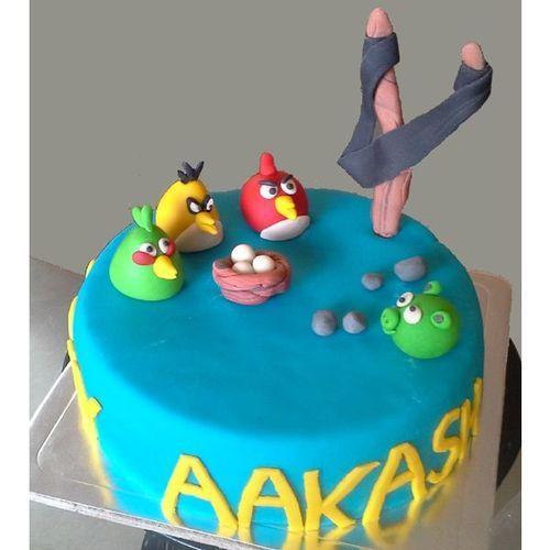 HBD034 - Angry bird Cake