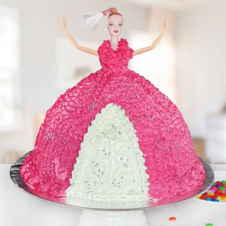 DOL001 - Barbie Doll Cake