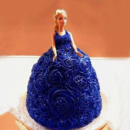 DOL002 - Barbie Doll Cake in Gown