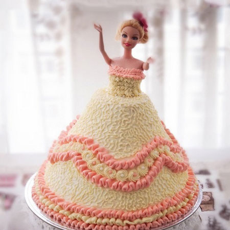 DOL003 - Charming Barbie Doll Cake
