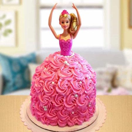 DOL006 - Glamorous Barbie Doll Cake