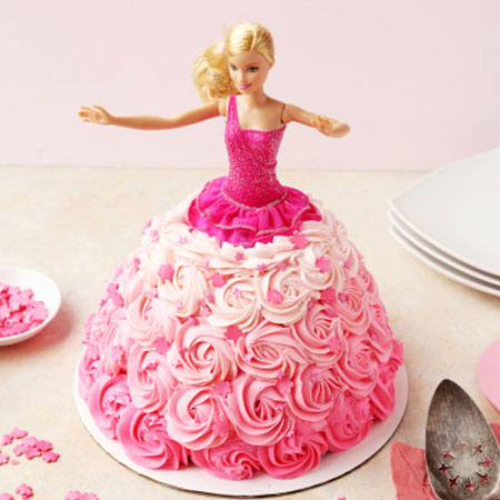 DOL008 -  Naughty Barbie Doll Cake