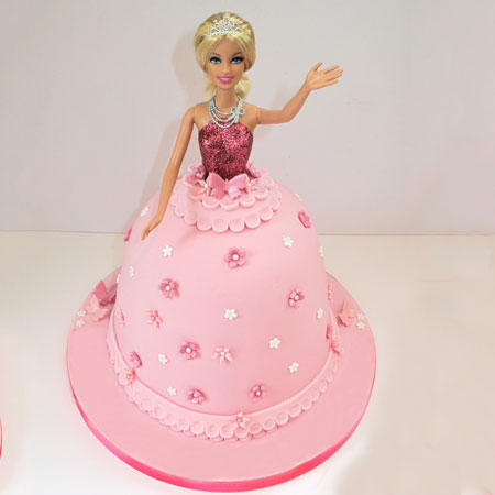 DOL010 - Sizzling Barbie Doll Cake