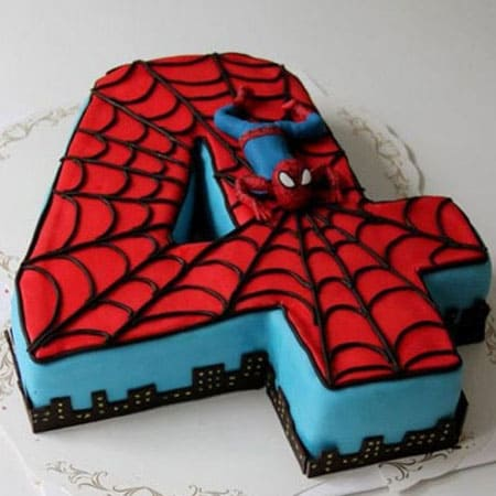 SPD004 - Courageous Spiderman Cake