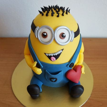 MIN011-  Happy Minion Cake