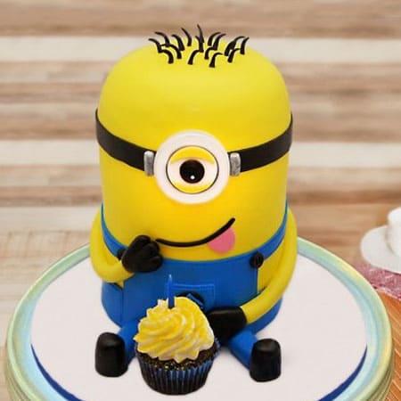 MIN012 - Joyful Minion Cake