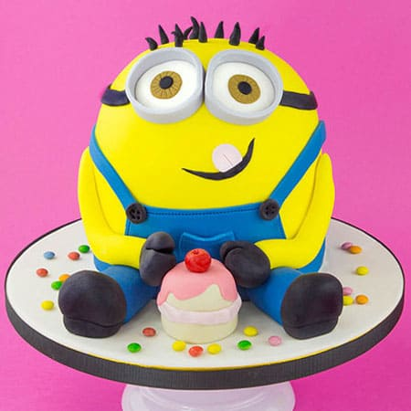 Sensational Min022 Sinful Minion Cake Minion Cake Cake Delivery In Funny Birthday Cards Online Aeocydamsfinfo