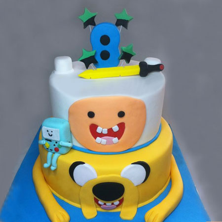 CRT001 -  Cartoon 2 tier Cake
