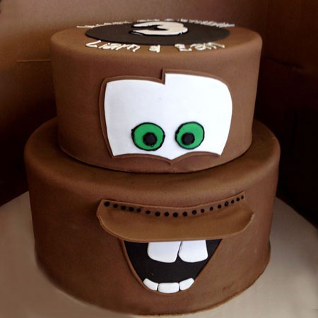 CRT003 -  Laughing Chocolate Cartoon Cake