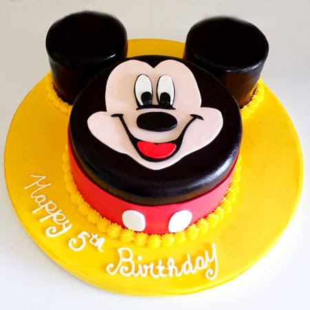MIC005 -  Dainty Mickey Mouse Cake