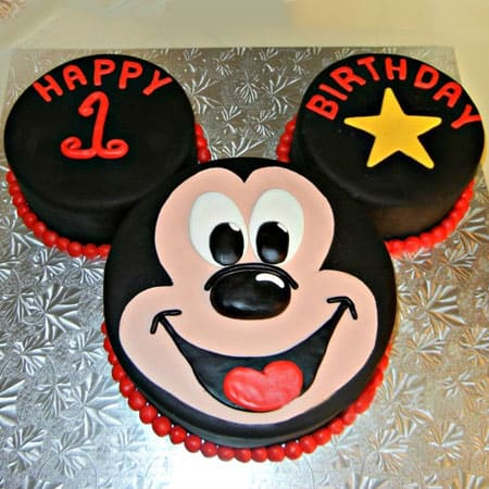 MIC008 - Mickey Mouse Fondant Cake | Mickey Mouse Cake | Cake