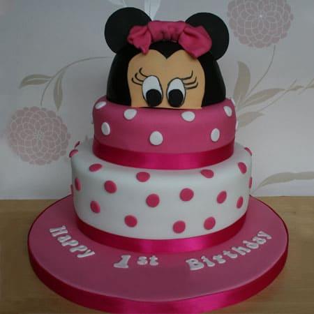 MIC009 -  Minnie 2 tier Cake