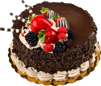 PRM016 - RICH CHOCOLATY CAKE WITH REAL FRUITS