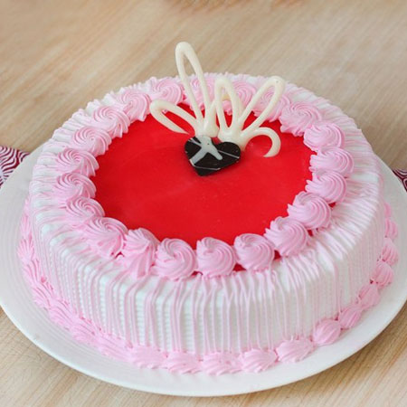 STR001 - Adorable Strawberry Cake