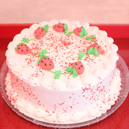 STR008 - Strawberries on Top Cake