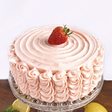 STR013 - Swirl Strawberry Cake
