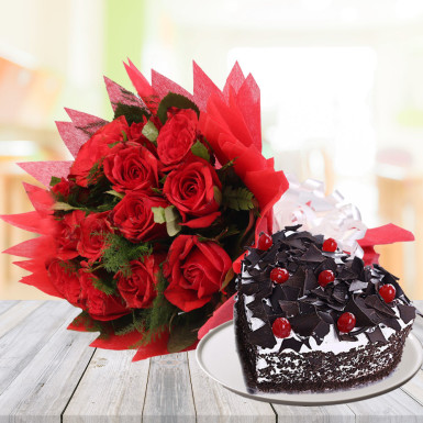 CCF006 - Love and Wishes with Cake and Flower