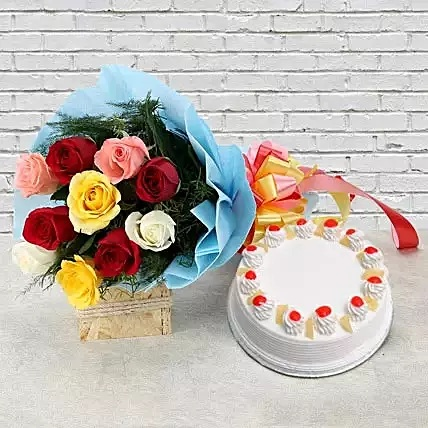 CCF009 - Pineapple Cake with Roses
