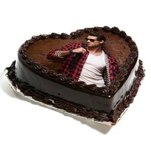 PHT008 - Photo Design Heart Shape Cake