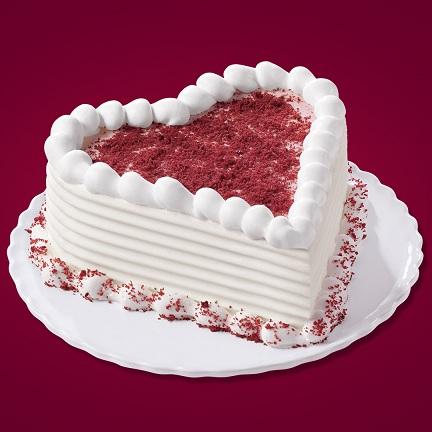 VAL019 - Valentine day Heart Cake