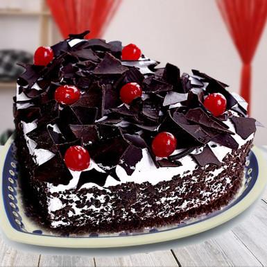 VAL074 - Valentine day Heart Cake