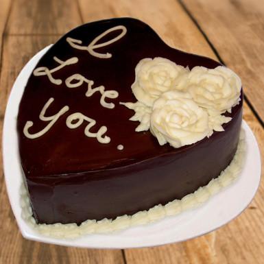 VAL075 - Valentine day Heart Cake