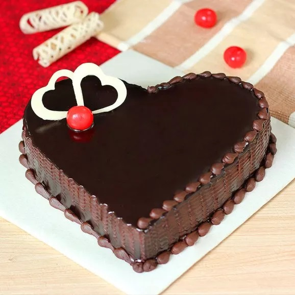 VAL080 - Valentine day Heart Cake