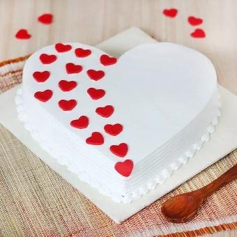 VAL082 - Valentine day Heart Cake