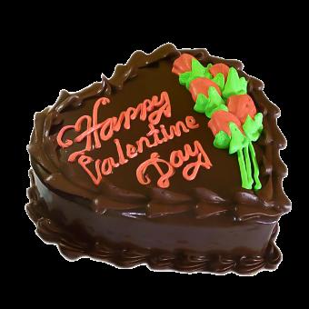 VAL086 - Valentine day Heart Cake
