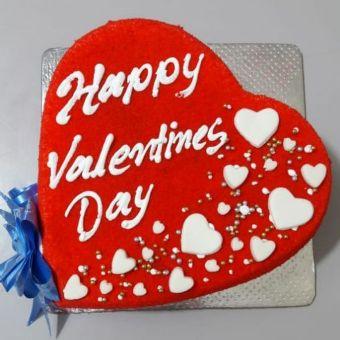 VAL087 - Valentine day Heart Cake