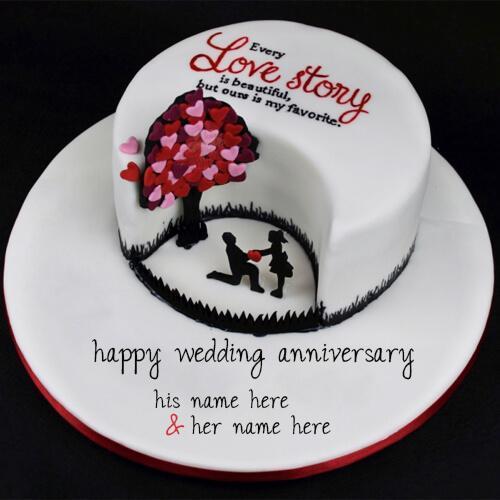AVN010 - Happy Anniversary Cake