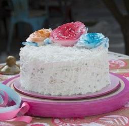 HBD014 - Vanilla Rose Cake