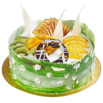 PRM052 - Kiwi Cake with Fresh Fruit Toppings