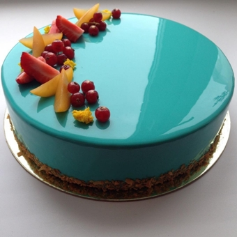 MRR001 - Aqua Splash Mirror Cake