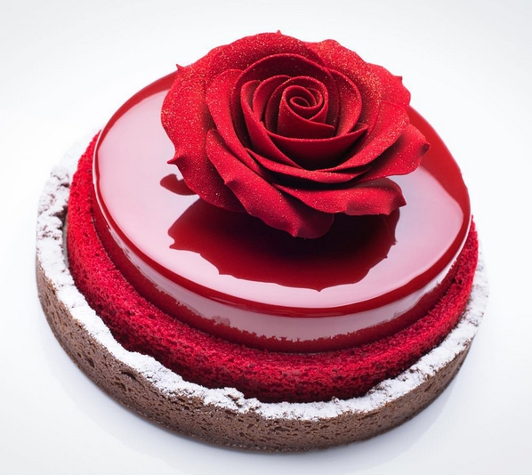 MRR002 - Beautiful Rose Mirror Cake