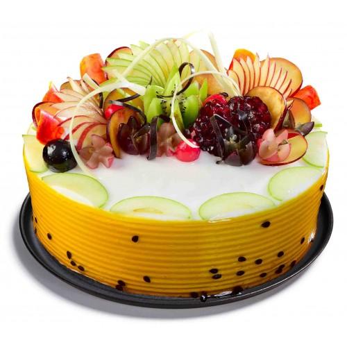 Fine Fru008 Fruit Cake Fruit Cakes Cake Delivery In Bhubaneswar Funny Birthday Cards Online Inifodamsfinfo