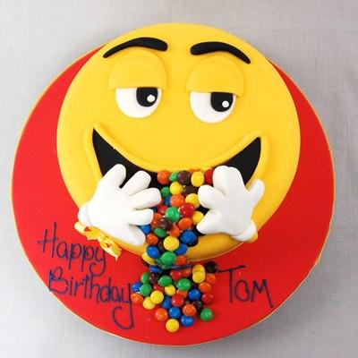 SMY022 - Gems Smiley Cake