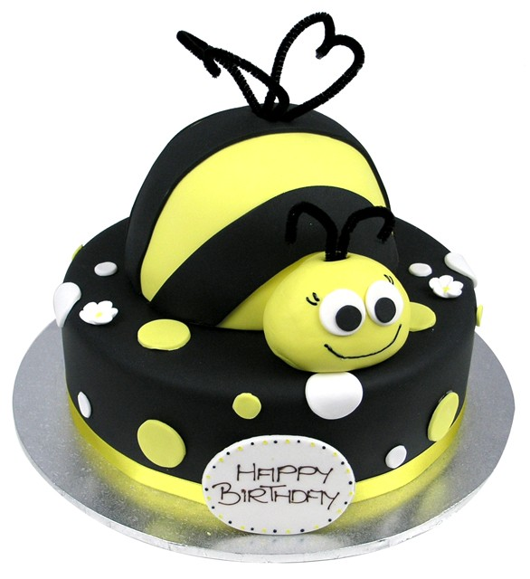 Fine Bmb009 Layer Bee Cake Bumble Bee Cake Cake Delivery In Personalised Birthday Cards Paralily Jamesorg